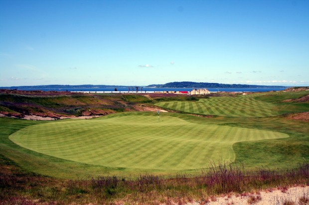 Finishing Touch: the amazing 18th hole at Chambers Bay
